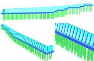 1.Estructura de contención - Propuesta inicial, muros en voladizo con contrafuertes
