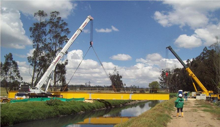 14. Puente metálico carga extra pesada