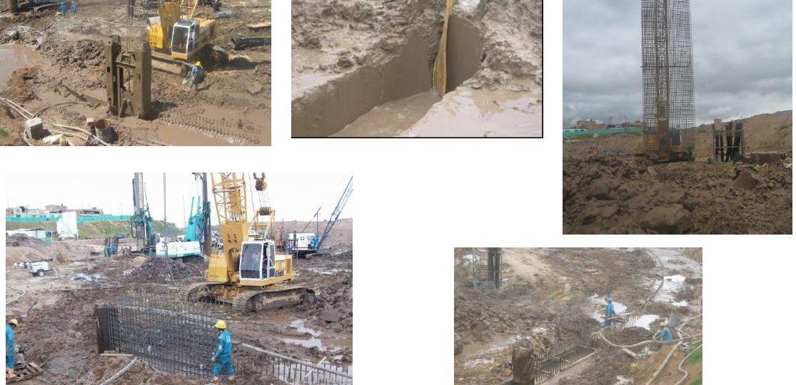 2. Construcción pilotes y pantalla pre excavada