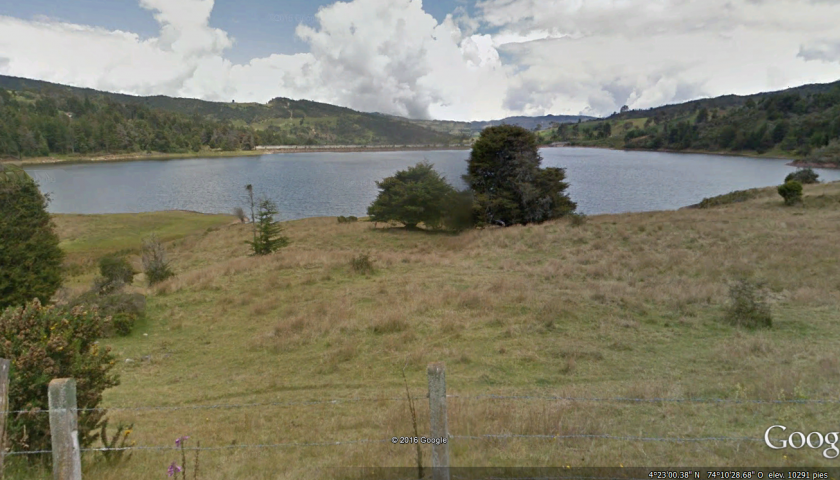 2. Embalse de Chisacá – Fuente Google Earth
