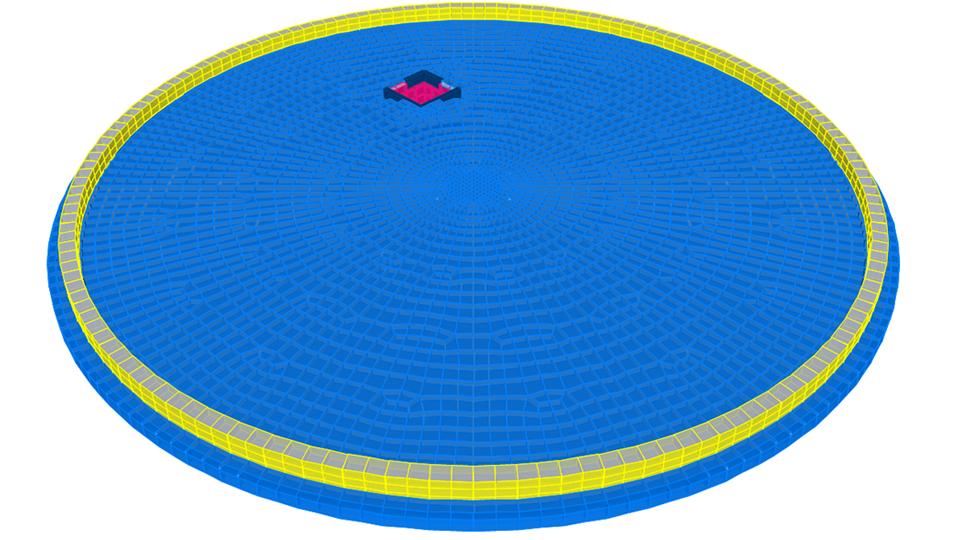 Placa de cimentación circular tanque No. 2