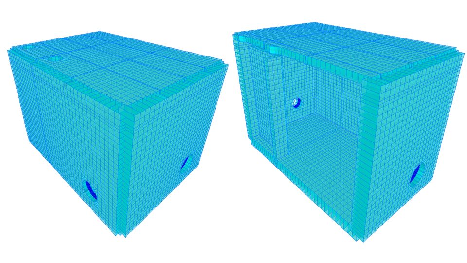 Caja LC 28 la cual alberga estructuras en TEE, válvulas, 4 ventosas, 1 reducción, 1 purga y 2 by-passes.