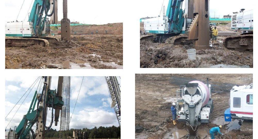 2A. Construcción pilotes y pantalla pre excavada